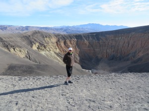 Ross at the Ubehebe Crater