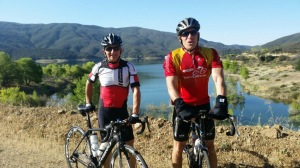 Roobik and I on a training ride.