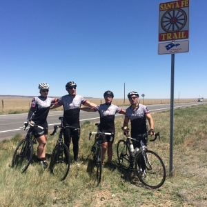 Much of the ride was along the historic Santa Fe Trail.